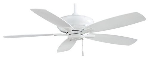 Minkaaire 5 Blade 52 White Indoor Ceiling Fan With Blades Included.