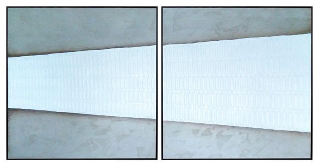 """""""Beyond The Line"""" 2-Piece Black Floater Frame Set, 48""""x48"""""""