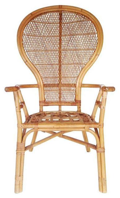 Vintage Rattan Peacock Chair   $450 Est. Retail   $360 On Chairish.com  Tropical