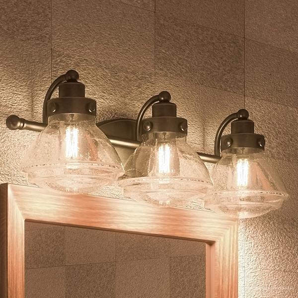 Luxury Transitional Bronze Bathroom Vanity Light Uql2652 Brookline Collection Industrial Bathroom Vanity Lighting By Urban Ambiance Houzz
