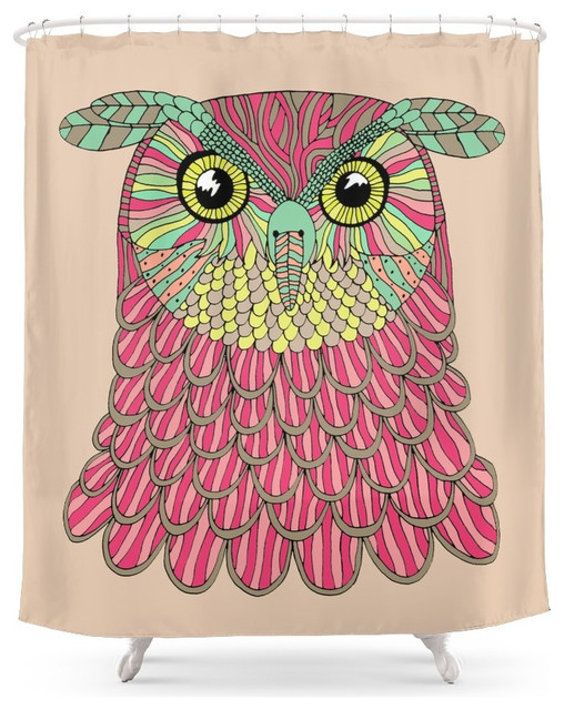 Society6 Owl Shower Curtain Rustic Shower Curtains