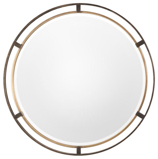 05cdcfaa172 Carrizo Bronze Round Mirror - Contemporary - Wall Mirrors - by My ...