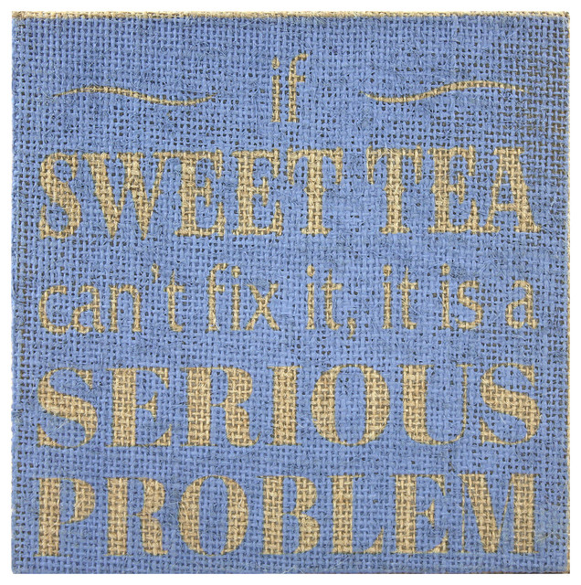 Sweet Tea Wall Sign - Contemporary - Novelty Signs - by Fetco Home ...