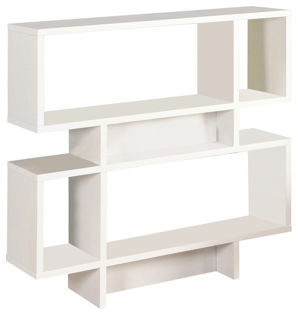 Wood Cube Bookcase Display Cabinet, White.