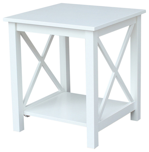 Hampton End Table, White.