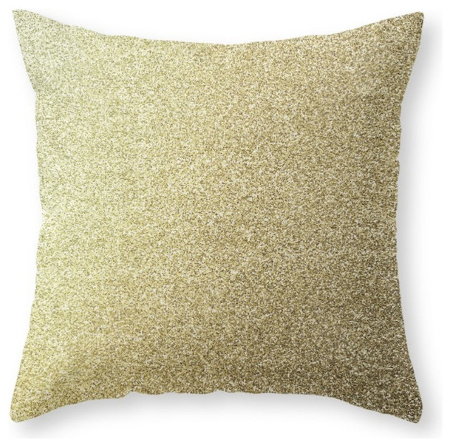 Gold Sparkle Throw Pillow : Society6 Gold Glitter, Throw Pillow - Contemporary - Decorative Pillows - by Society6