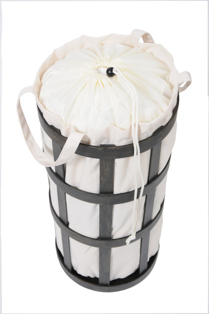 Cage laundry basket contemporary laundry baskets by wireworks - Whites and darks laundry basket ...