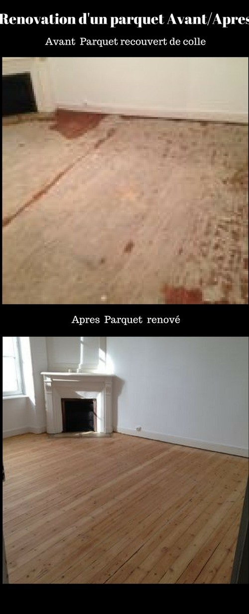 renovation d 39 un parquet avant apres. Black Bedroom Furniture Sets. Home Design Ideas