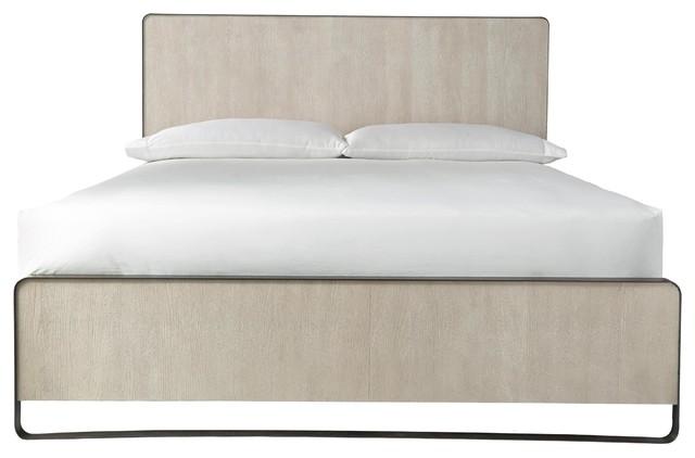 Modern Grey Oak Keaton Queen Platform Bed.
