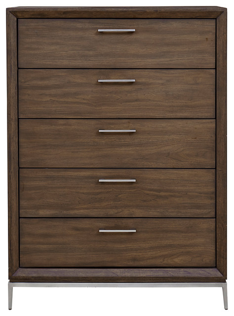 Milano 5-Drawer Chest, Brown.