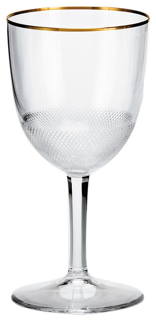 Royal Gold Crystal Red Wine Glass Contemporary Wine