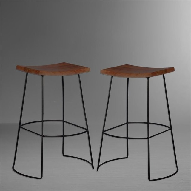Carolina Clics 30 Saddle Seat Bar Stools