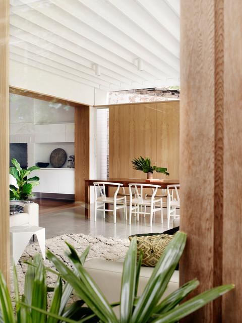Modernes Wohnzimmer in Sydney