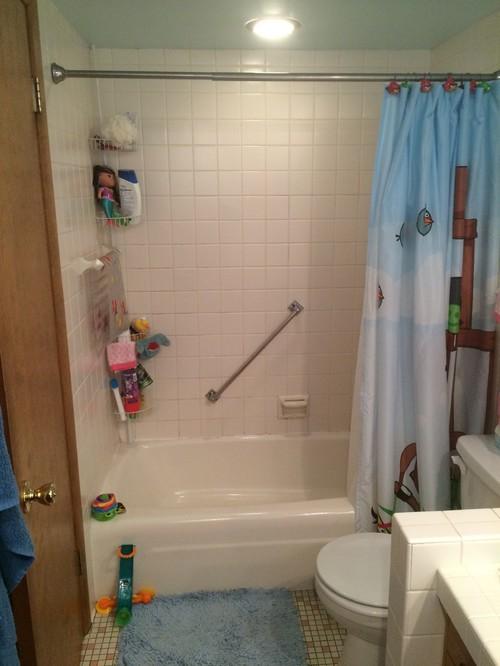 Ugly Kids Bathroom Needs Gutting - Gutting a bathroom