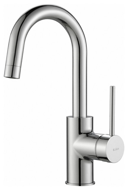 KRAUS Oletto 1-Handle Kitchen Bar Faucet in Chrome