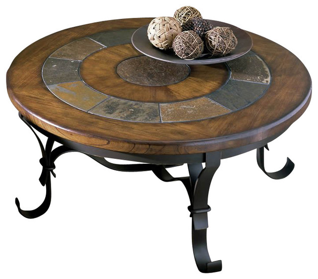 Riverside Stone Forge Round Coffee Table Coffee Tables