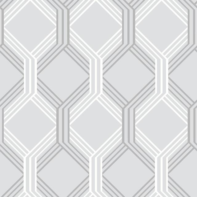linkage gray trellis wallpaper swatch contemporary wallpaper - Trellis Wall Paper