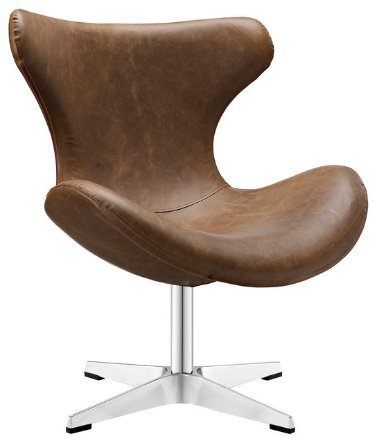 Astonishing Modern Contemporary Vinyl Lounge Chair Brown Vinyl Leather Gmtry Best Dining Table And Chair Ideas Images Gmtryco
