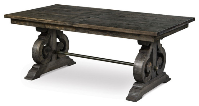 Magnussen Bellamy Rectangular Dining Table Deep Weathered Pine