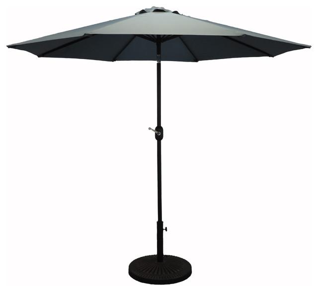 Premium Market Outdoor Patio Umbrella, Crank And Tilt, Slate.