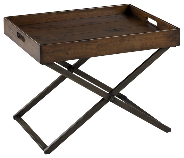 Cooper Classics Perera 24x16 5 Cocktail Table In Distressed Brown Rustic Coffee Tables By