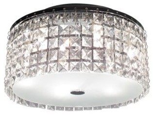 Bazz Lighting PL3413CC Glam Series 3 Light Flush Mount Ceiling Fixture  Flush Mount Ceiling