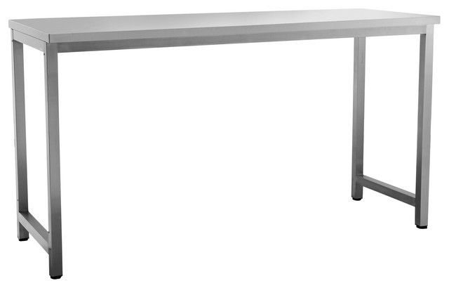 outdoor kitchen 64wx24d prep table stainless steel classic modern garage - Kitchen Prep Table Stainless Steel