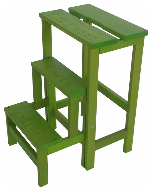 Happy Numbers Step Stool, Green