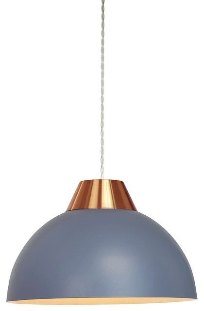 Jasper Easy-Fit Pendant Shade, Cobalt and Copper