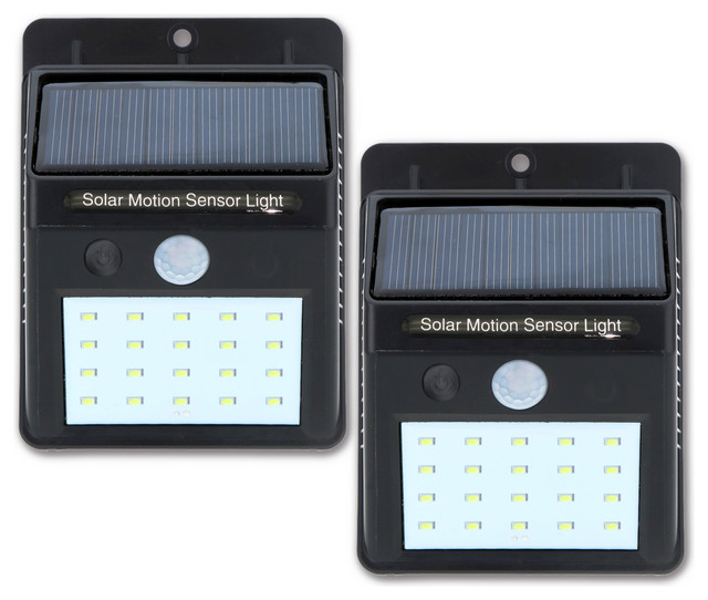 20 Led Bright Solar Outdoor Motion Activated Wall Mount Light.