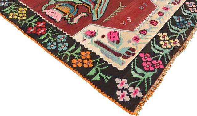 Consigned Vintage Fl Turkish Kilim