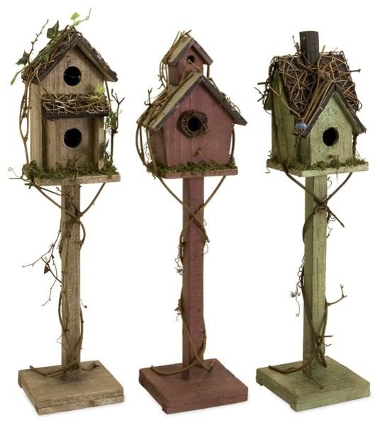 Imax Imax 29094 3 Carthage Standing Birdhouses Set Of 3