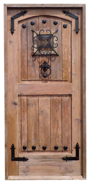 Rustic Reclaimed Lumber Solid Wood Door With Operable