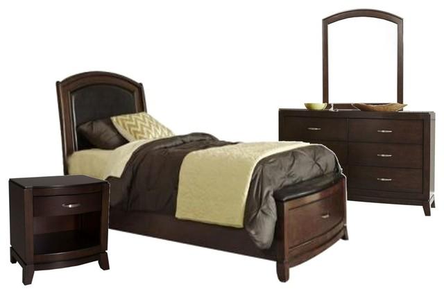 Liberty Furniture Avalon 4 Piece Leather Storage Bedroom Set