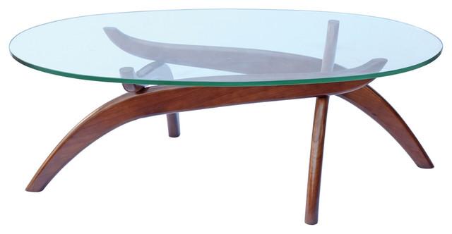 Fine Mod Imports Spider Coffee Table, Walnut.
