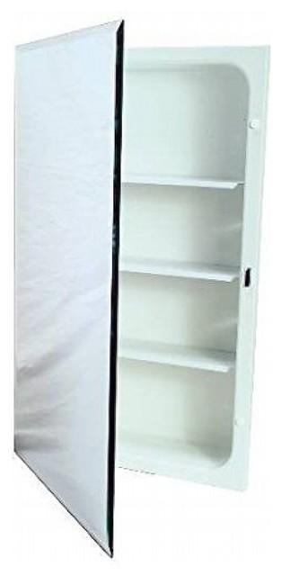 """Recessed Plastic Medicine Cabinet, White, 16""""x20""""."""