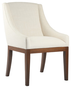 South Cone Home Violette Dining Chair, Sand, Cognac Finish