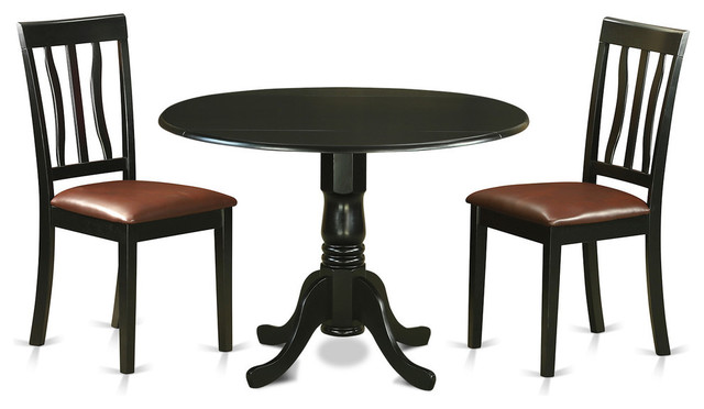 Dublin Dining Table Set Black 3 Pieces Traditional  : traditional dining sets from www.houzz.com size 640 x 372 jpeg 43kB