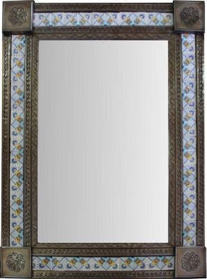 Large Brown Mesh Tile Mexican Mirror Bathroom Mirrors