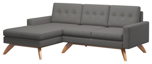 Incredible Luna 90 Sofa With Chaise Dove Walnut Leg Finish Right Facing Frankydiablos Diy Chair Ideas Frankydiabloscom