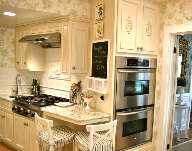 Tiny French Country Kitchen Traditional