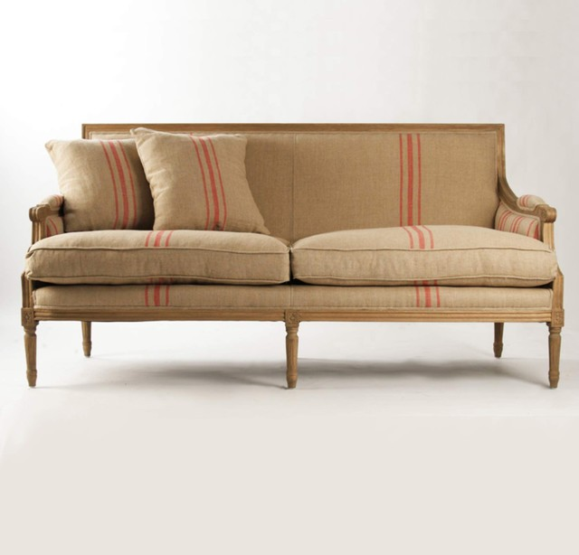 Red Stripe Sofa Eclectic Sofas