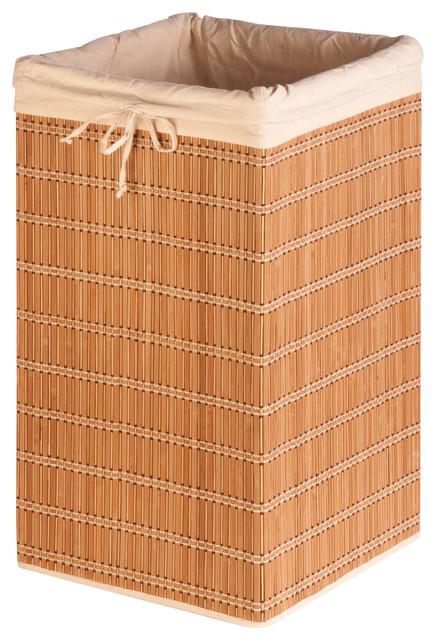 Honey Can Do Square Bamboo Wicker Hamper.