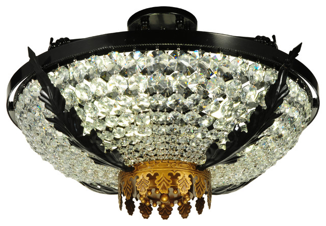 "24"" Chrisanne Crystal Semi-Flushmount."