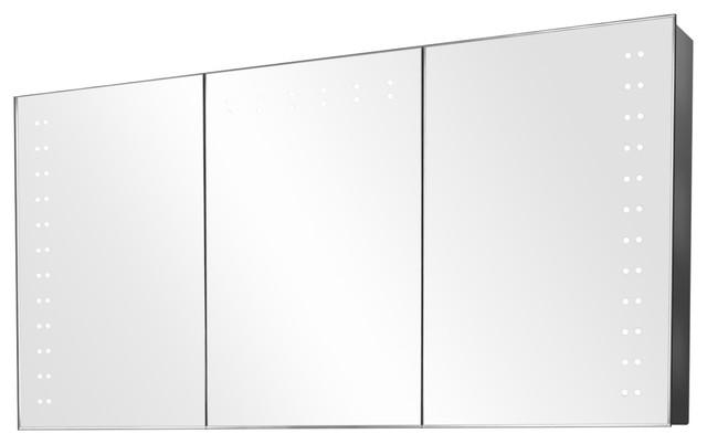 Aletha Ambient Light Demisting Bathroom Cabinet, With Under-Cabinet Lighting