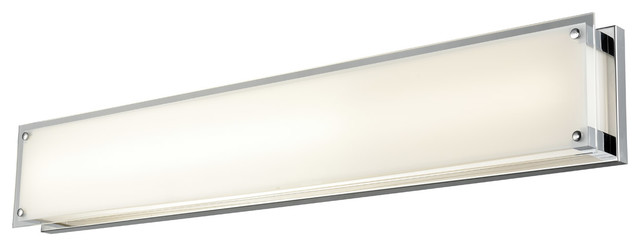 Bathroom Vanity 1 Light With Chrome Tone Finish Led Bulb Type 36 Inch 40 5 Watt Contemporary Bathroom Vanity Lighting By Rlalighting Houzz