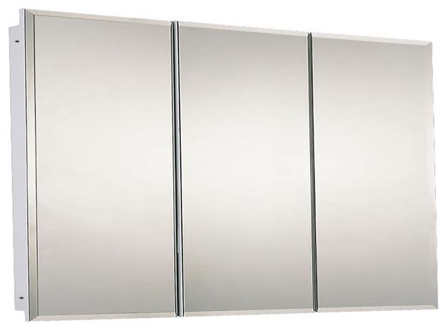 "Tri-View Series Medicine Cabinet, 48""x30"", Beveled Edge"