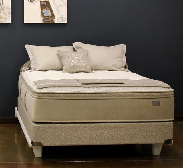 Chattam Wells Hamilton Latex Pillow Top Mattress Low Profile Box