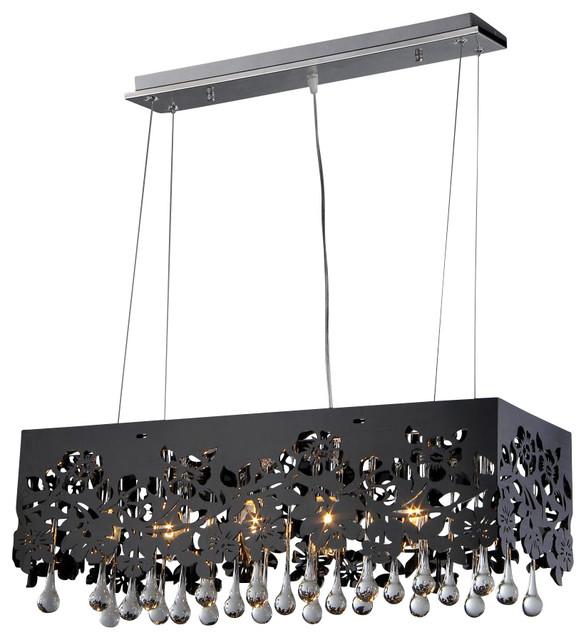 Warehouse Of Tiffany Apollon Black Shaded 6 Light