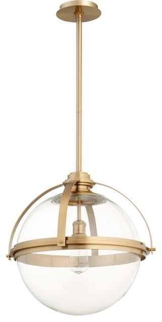 Signature 1-Light Pendants, Aged Brass.
